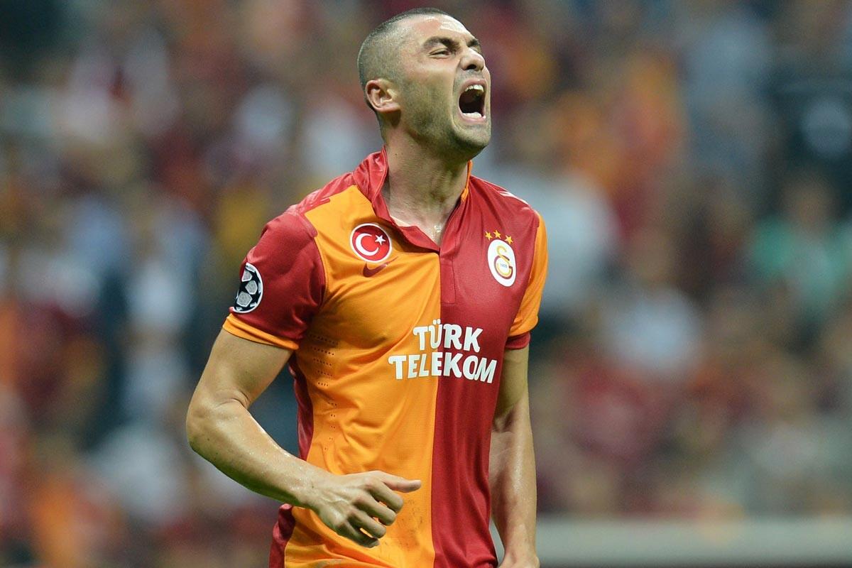 Burak Yilmaz, con el Galatasaray