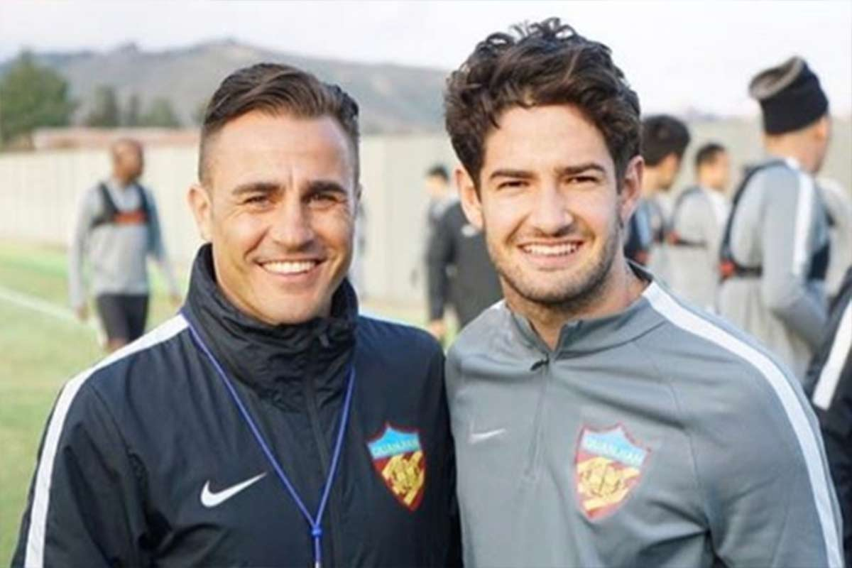 Fabio Cannavaro y Alexandre Pato