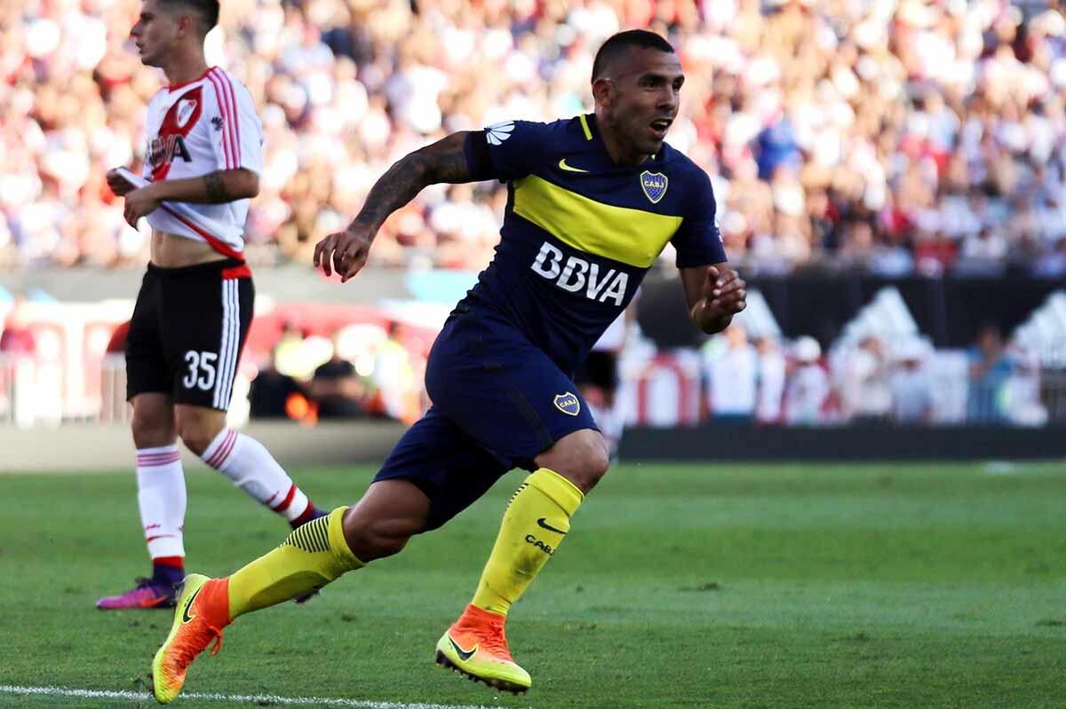 Carlos Tevez, delantero de Boca Juniors