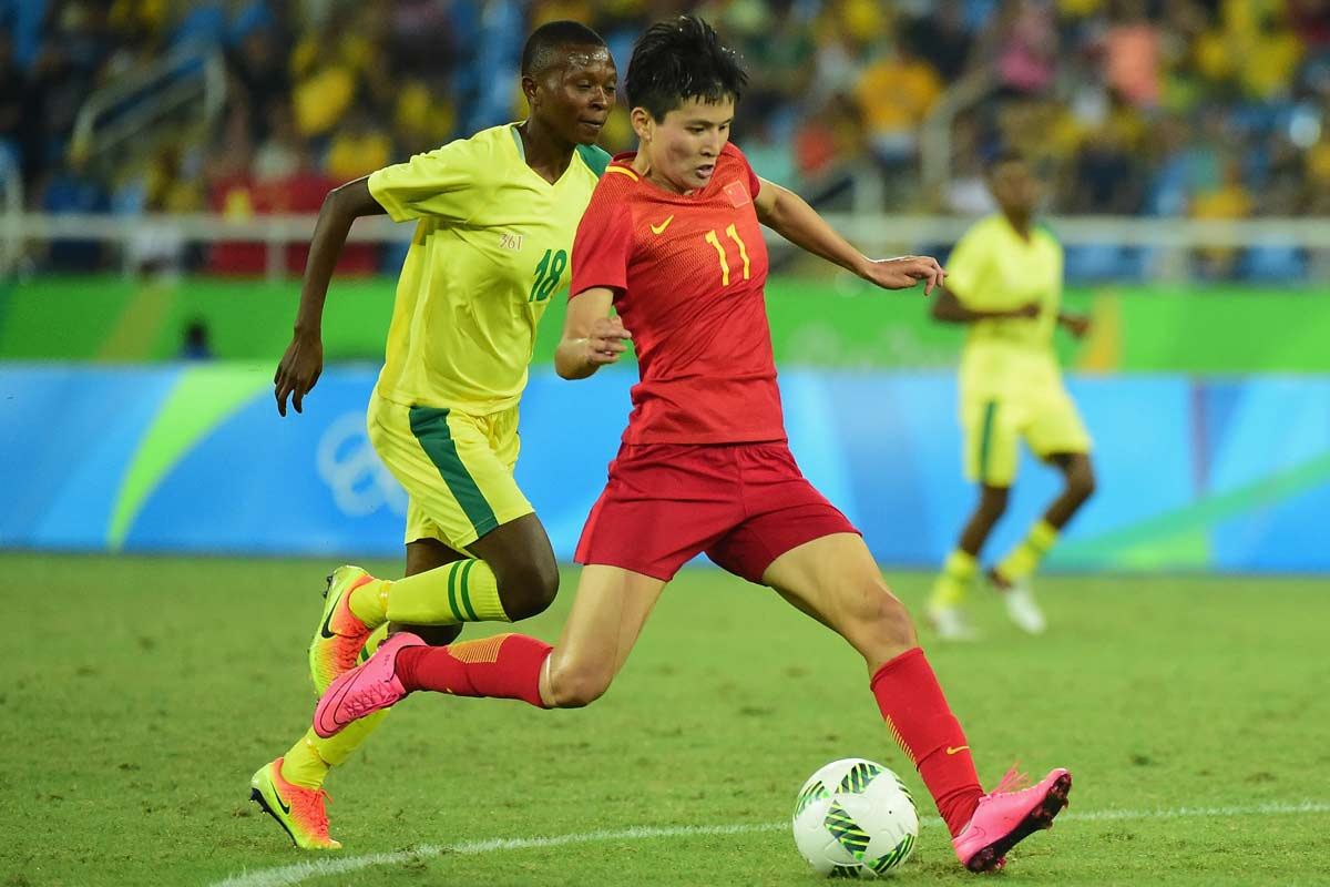 China contra Sudafrica, en Río 2016