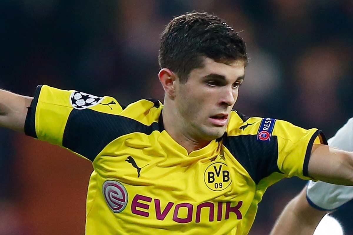 Christian Pulisic, con el Borussia Dortmund