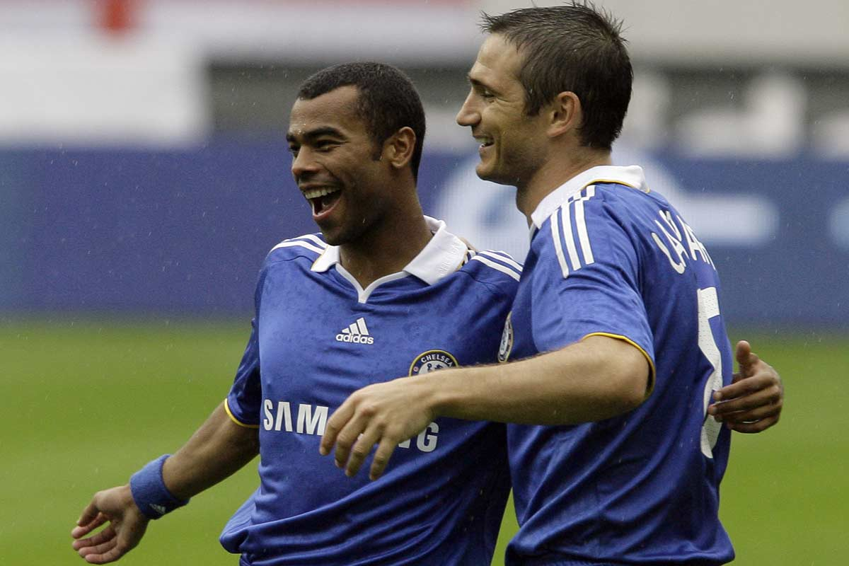 Ashley Cole y Frank Lampard