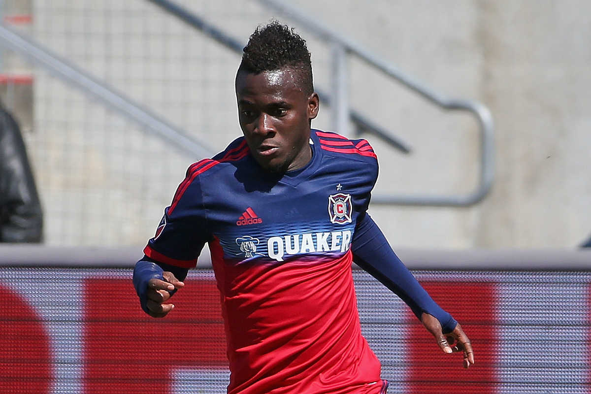 David Accam, destacado con los Chicago Fire