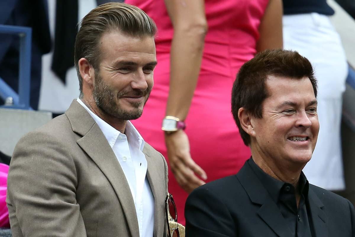 David Beckham y Simon Fuller
