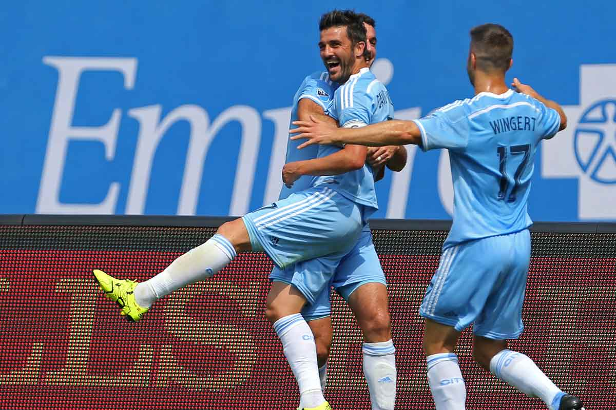 David Villa, de New York Ctity