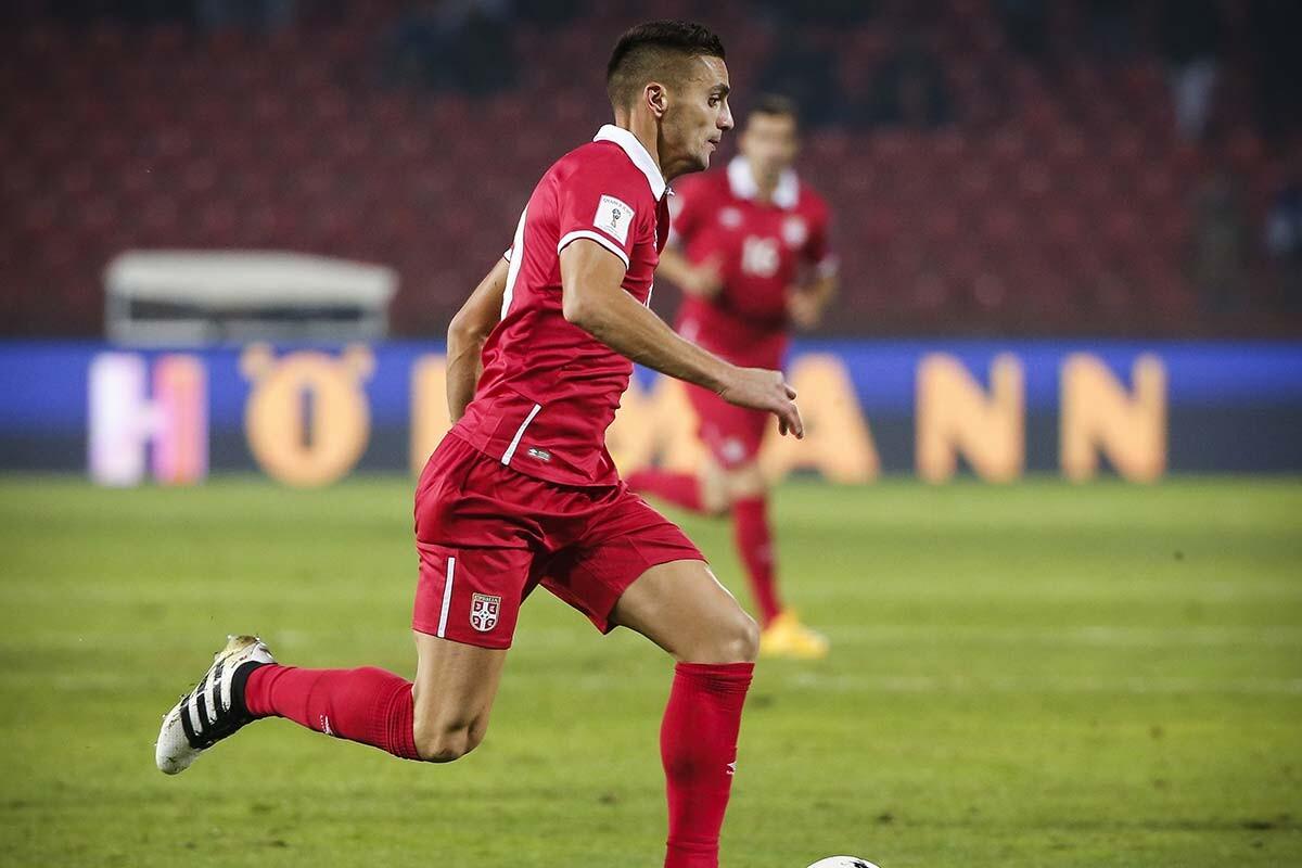 Dusan Tadic, con la selección de Serbia