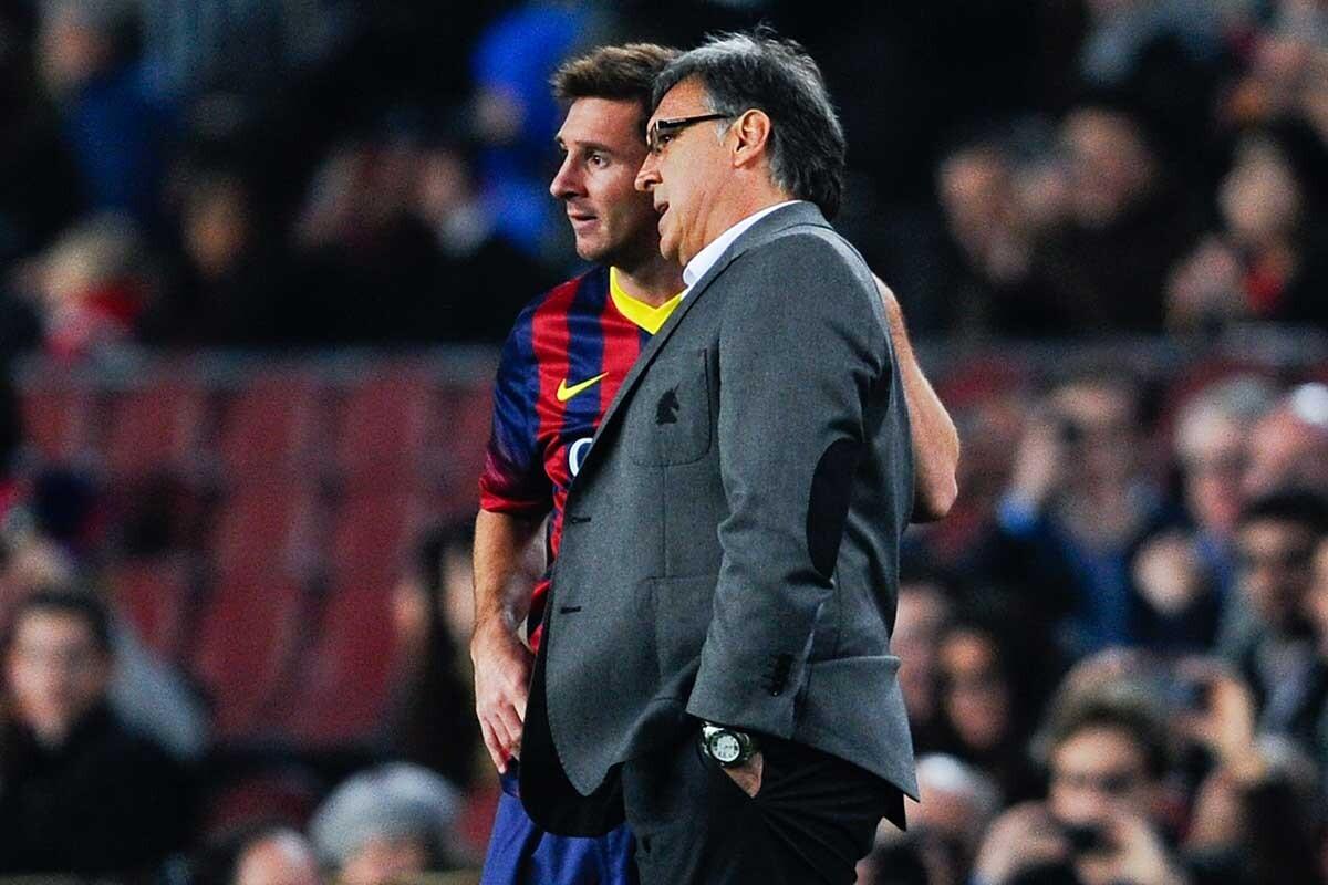 Gerardo Martino y Leo Messi