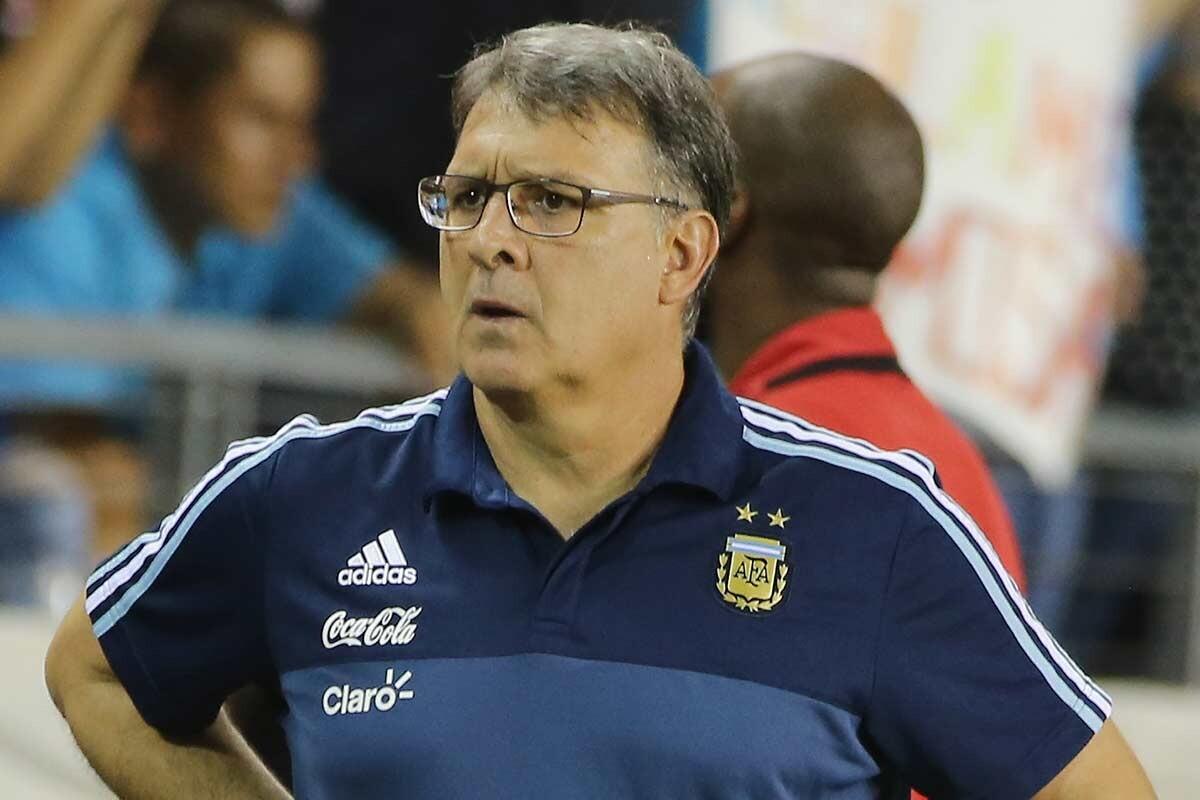 Gerardo Martino, con la selección argentina
