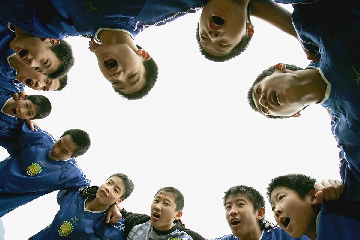 Grupo futbolistas