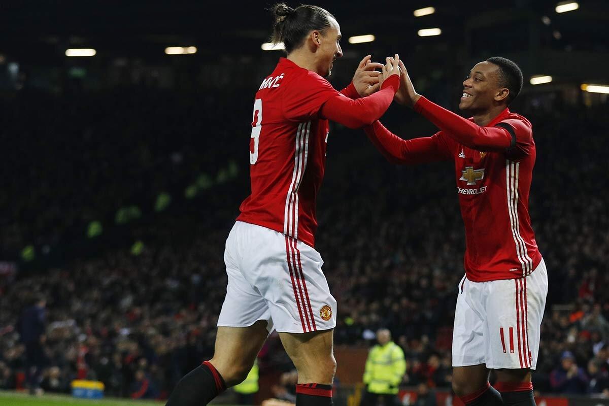 Ibrahimovic y Martial