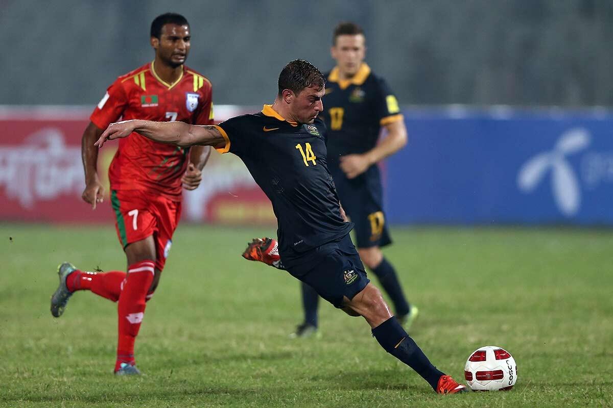 James Troisi, con la selección de Australia