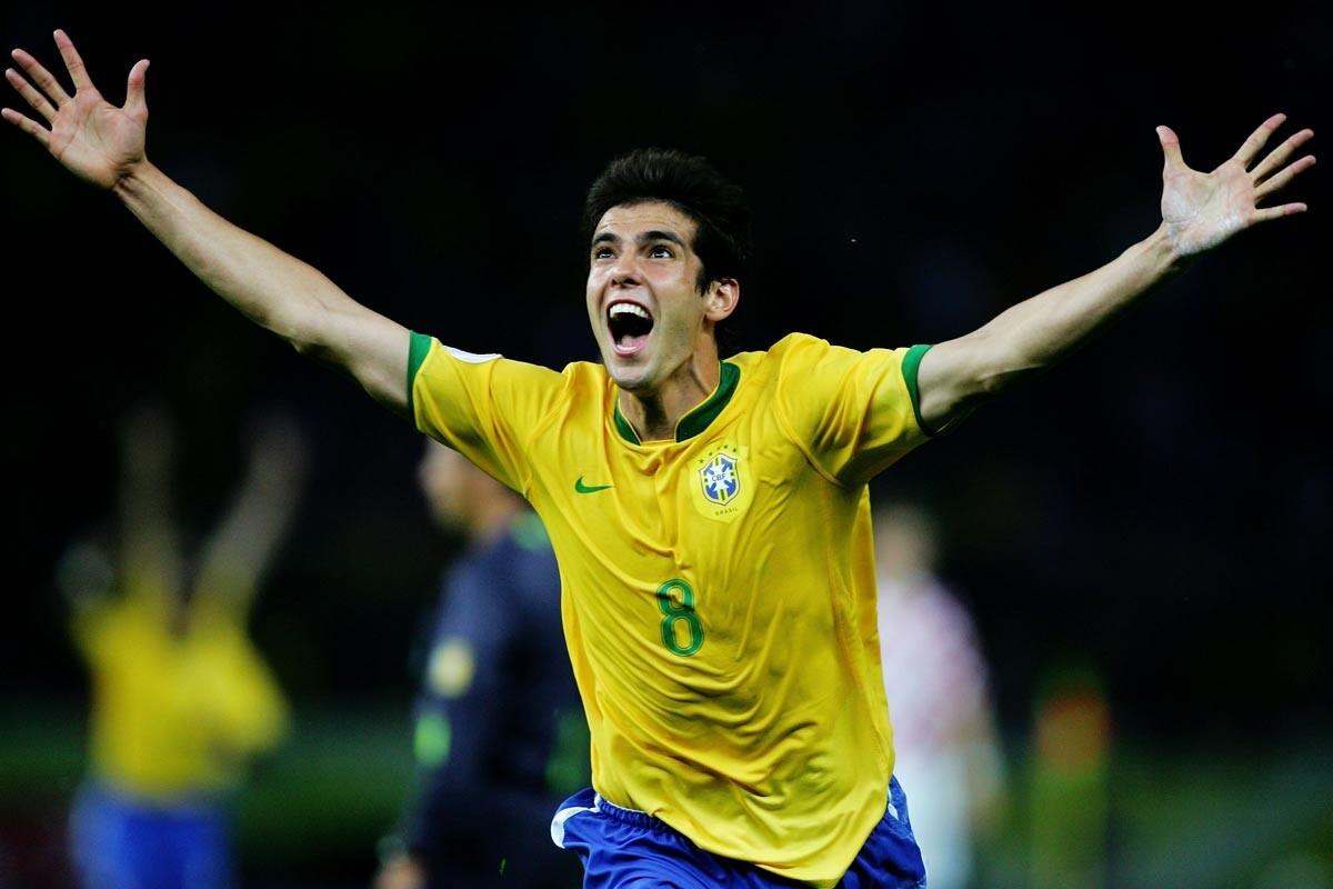 Kaka, con la selección de Brasil