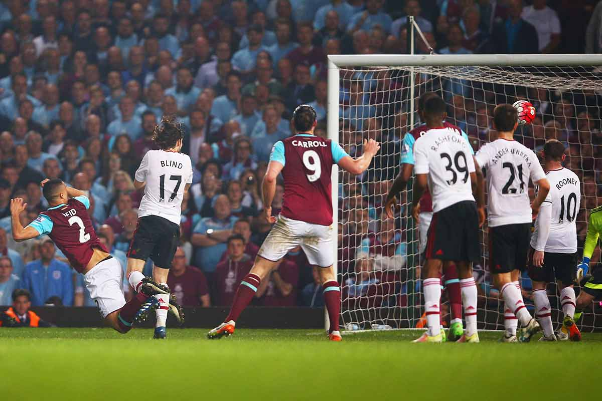 Macnhester United vs West Ham, de la Premier League