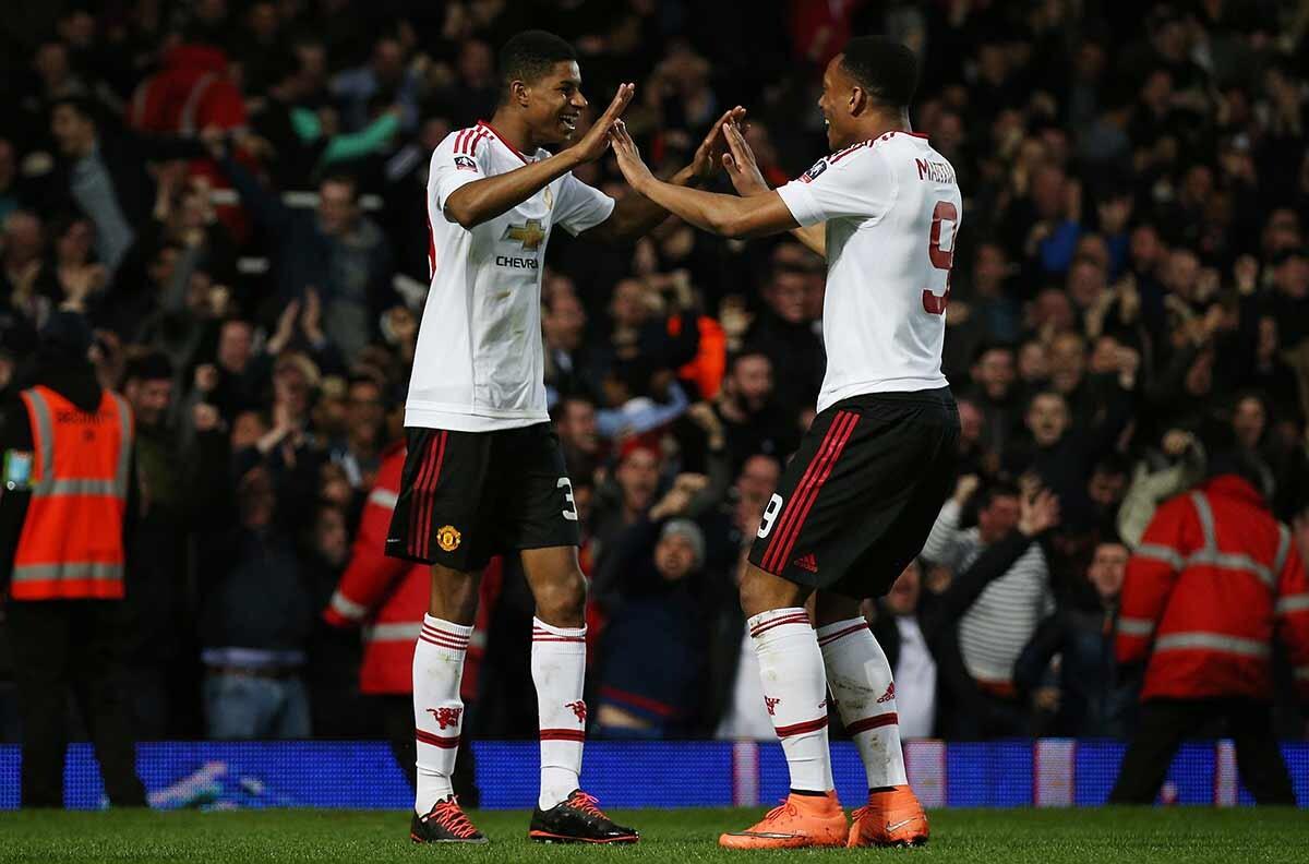 Rashford y Martial, con el Manchester United