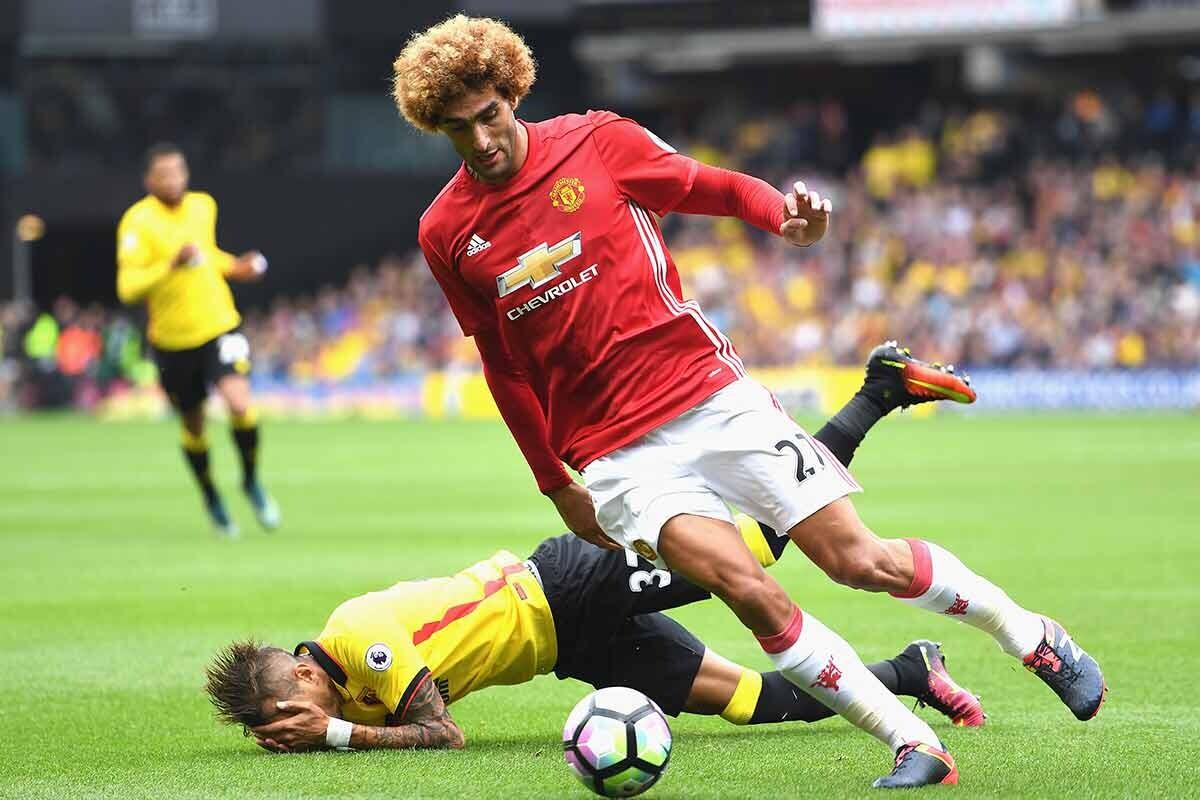 Marouane Fellaini, del Manchester United