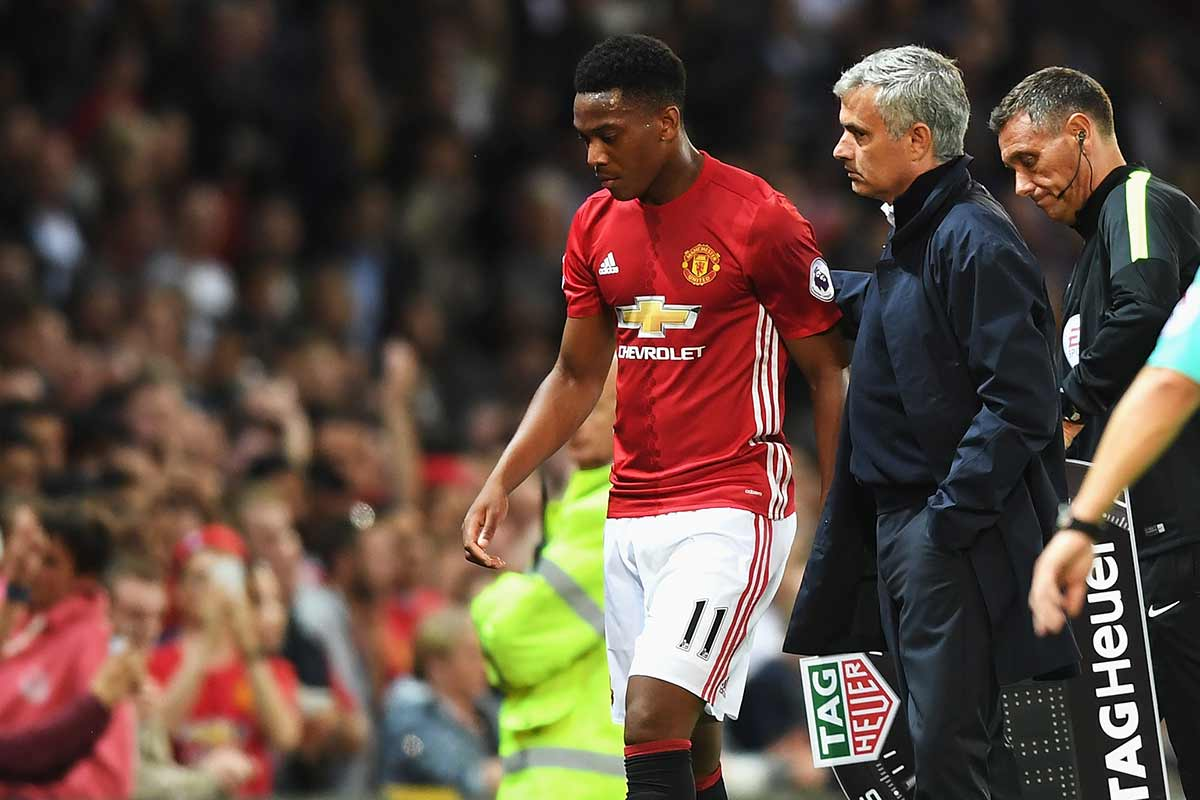 Jose Mourinho y Anthony Martial