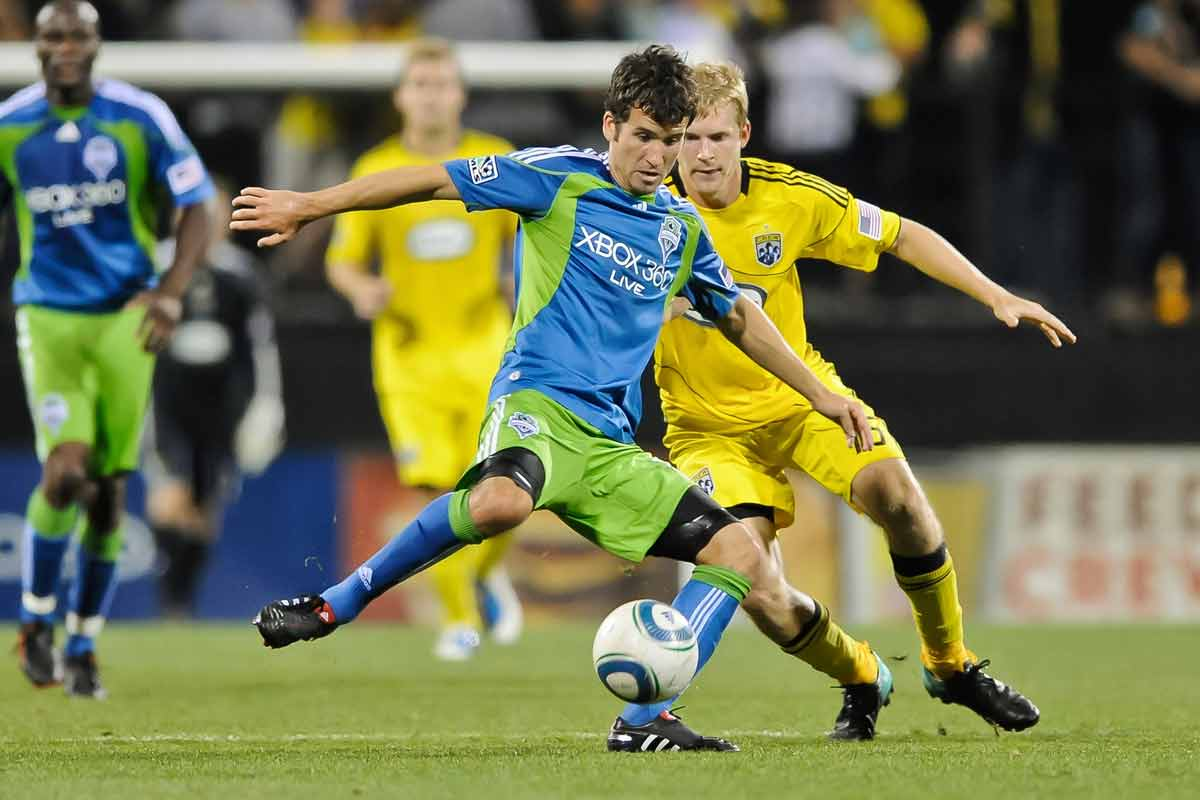 Nathan Sturgis, del Seattle Sounders