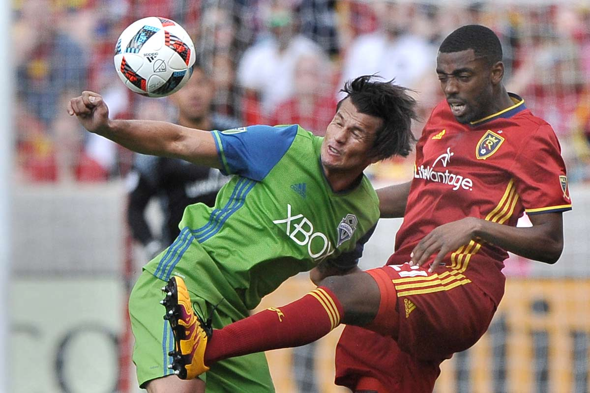 Nelson Haedo Valdez, en un Seattle Sounders vs Real Salt Lake