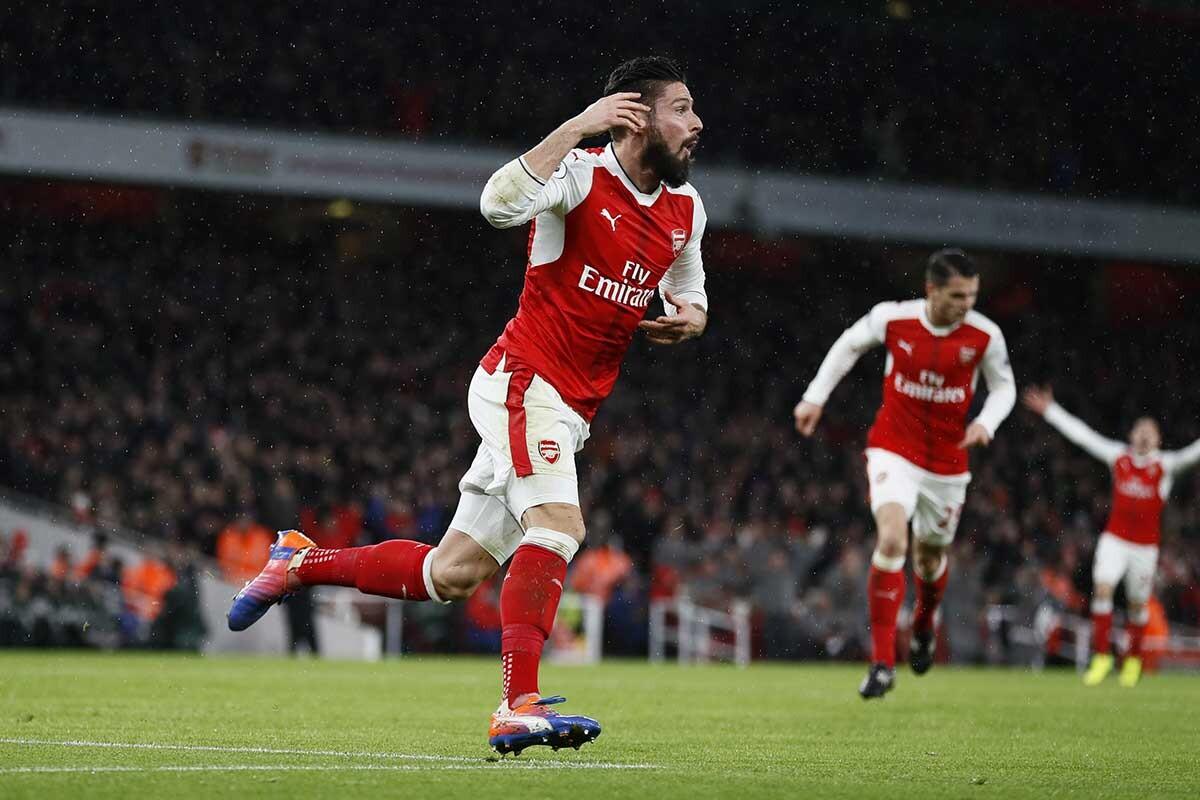 Olivier Giroud, delantero del Arsenal