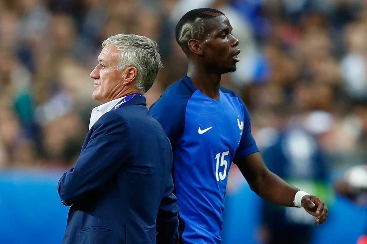 Paul Pogba y Didier Deschamps