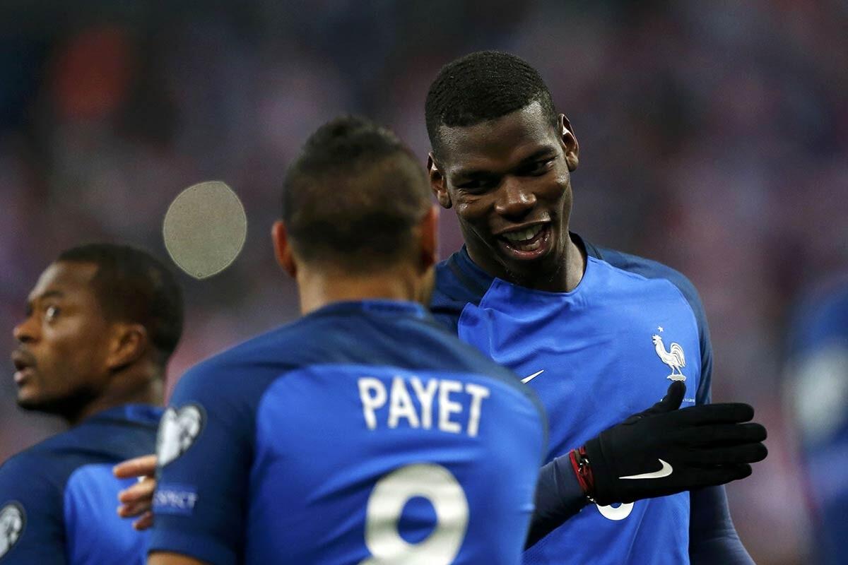 Pogba y Payet, con la selección de Francia