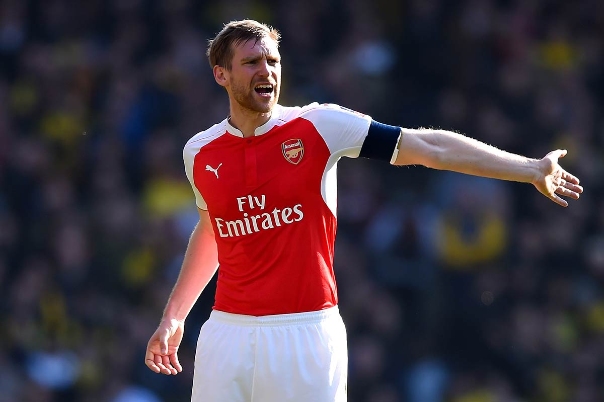 Per Mertesacker, del Arsenal