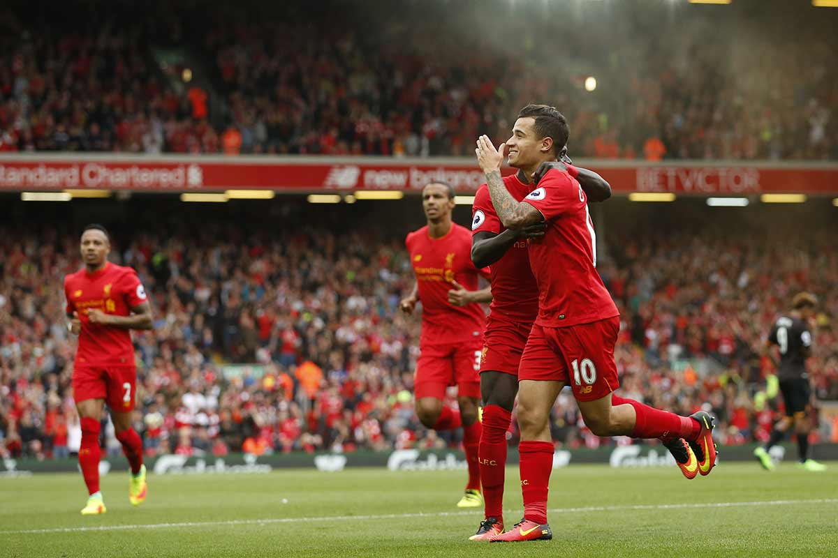 Philippe Coutinho, del Liverpool