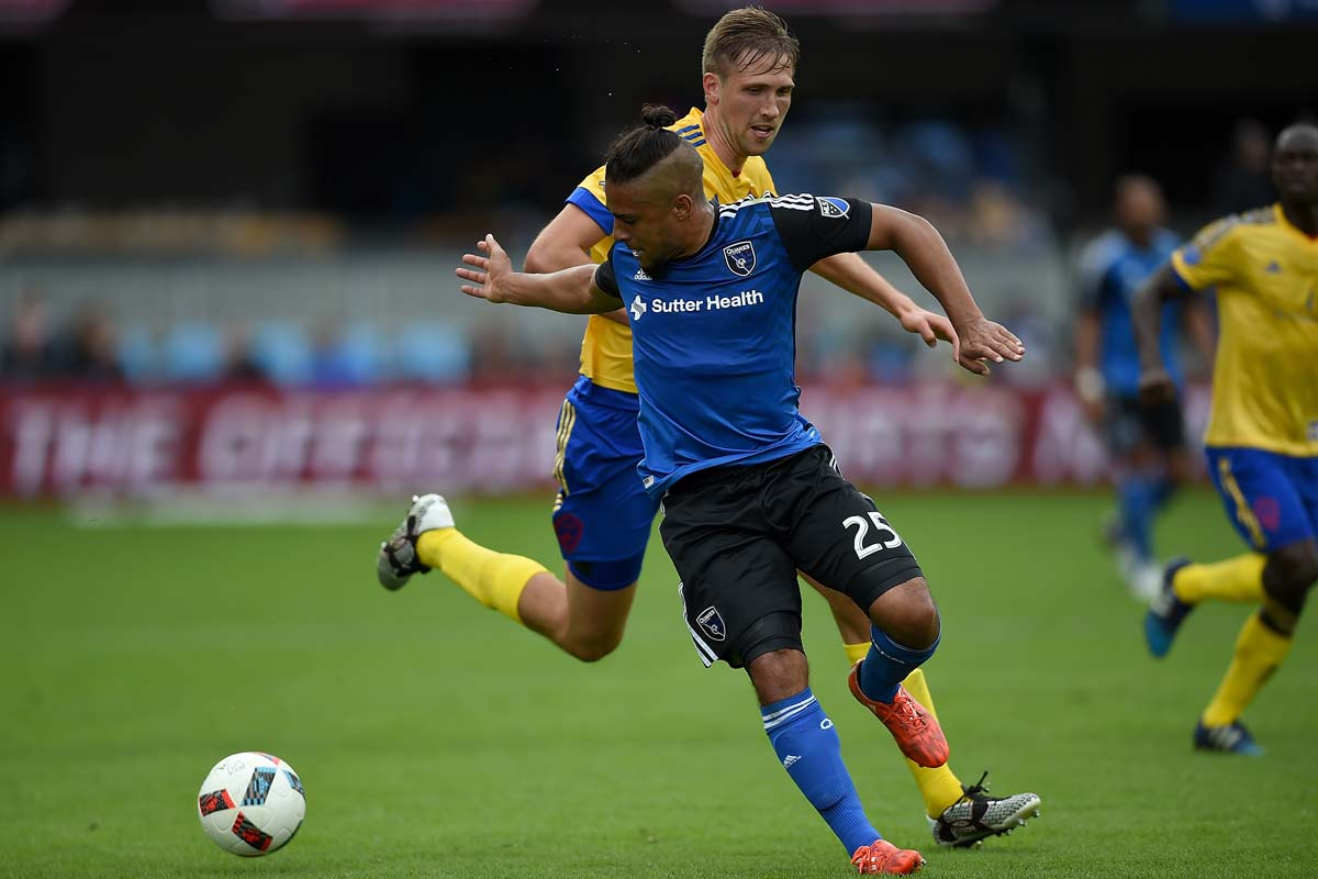 Quincy Amarikwa, del San Jose Earthquakes