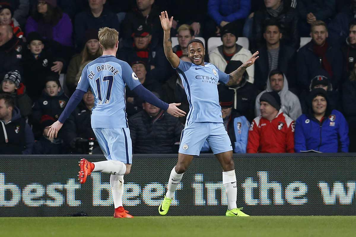 Raheem Sterling, del Manchester City