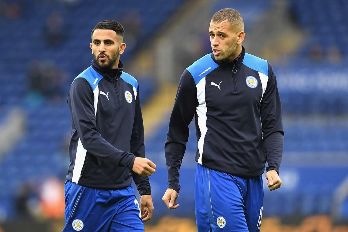 Riyad Mahrez e Islam Slimani, del Leicester