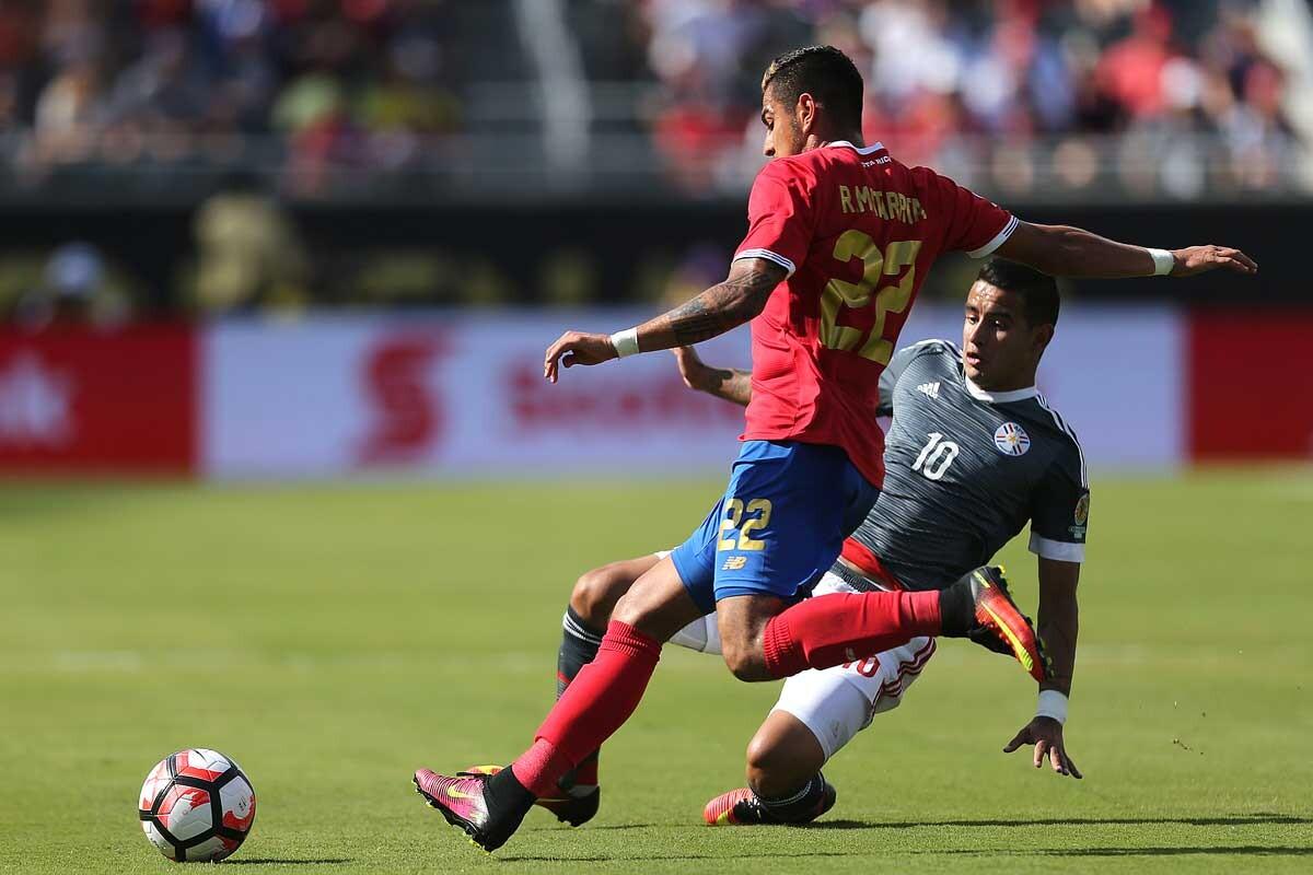 Ronald Matarrita, con la selección de Costa Rica