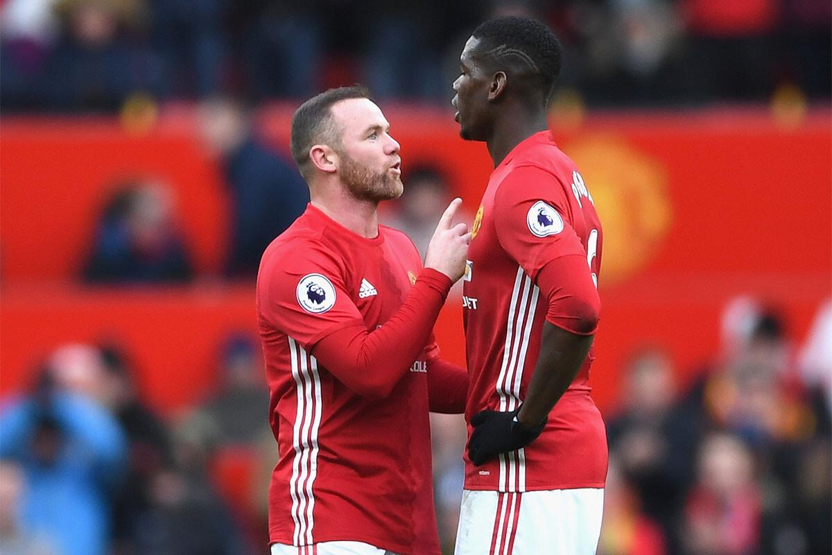 Paul Pogba, Wayne Rooney