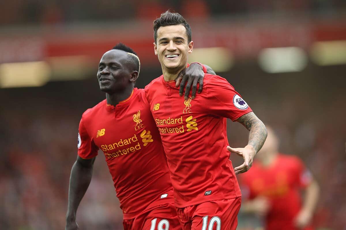 Sadio Mane y Philippe Coutinho, del Liverpool