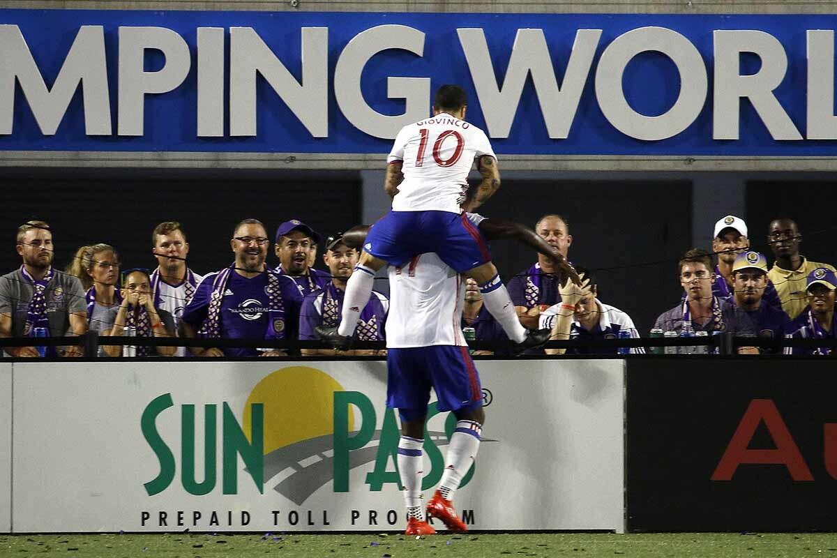 Sebastian Giovinco celebra un gol en Toronto