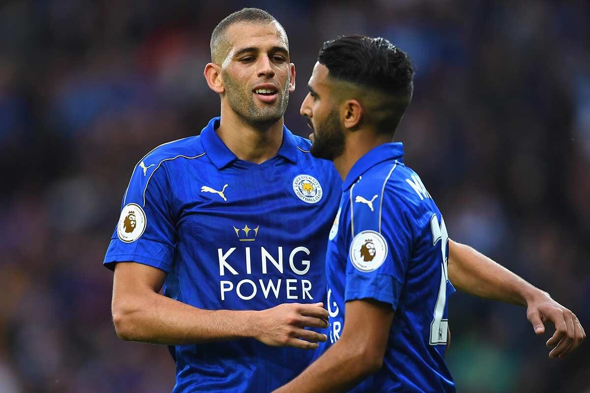 Slimani y Mahrez, del Leicester City