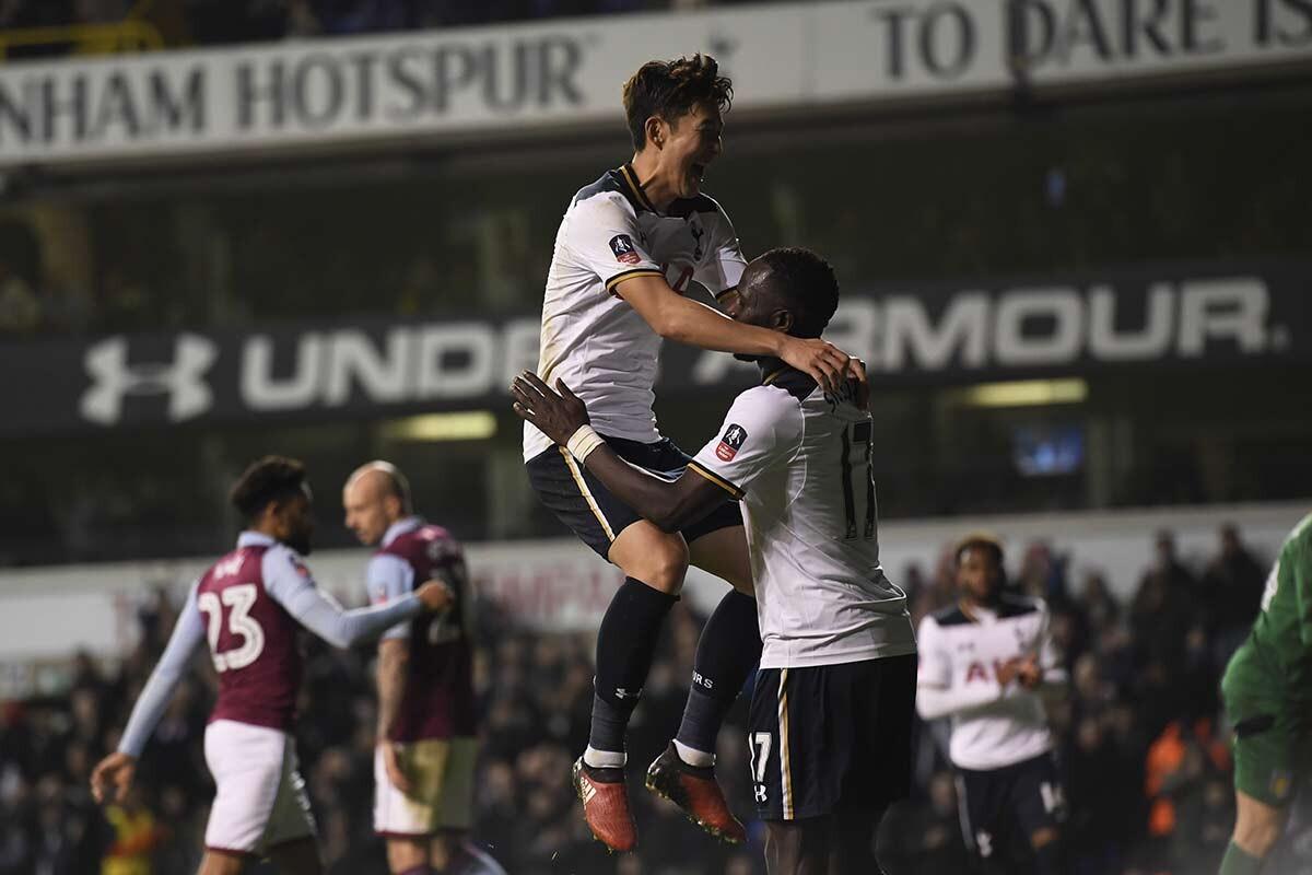 Son-Heung Min y Sissoko, del Tottenham