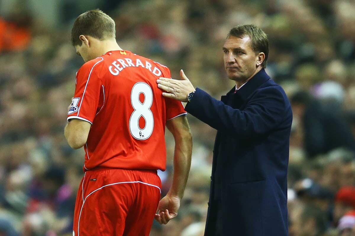 Gerrard y Rodgers, del Liverpool