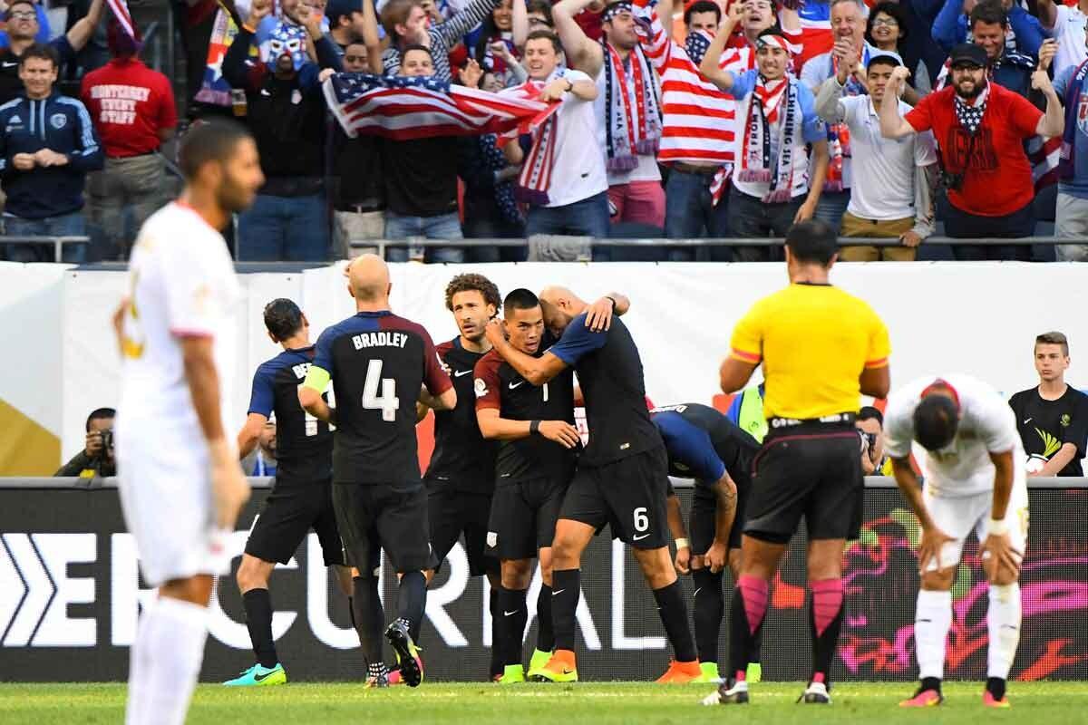 Estados Unidos goleó a Costa Rica