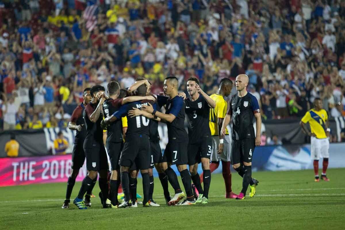 Estados Unidos derrotó a Ecuador