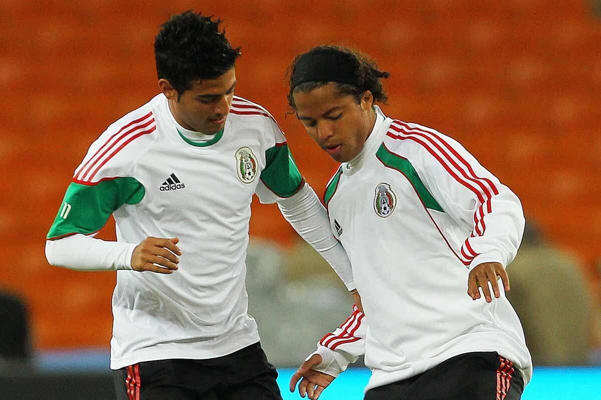 Carlos Vela y Gio Dos Santos, con la selección de México