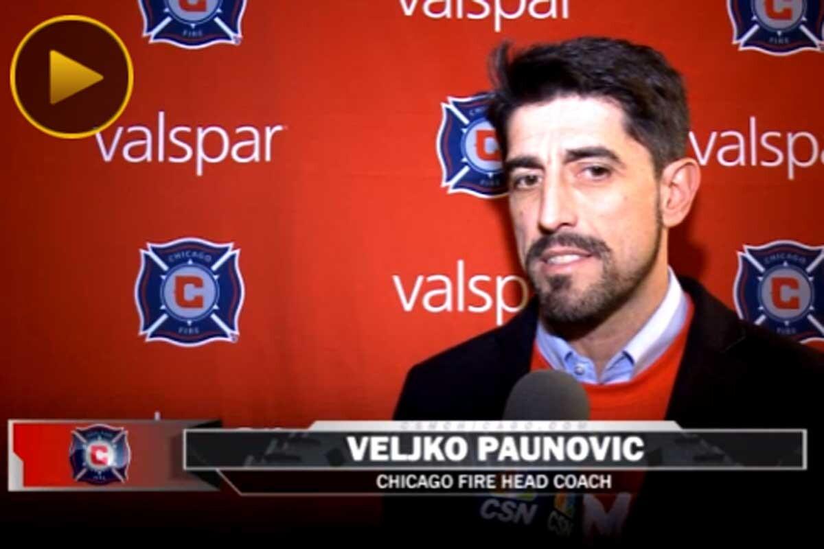 Veljko Paunovic, entrenador de Chicago FIre