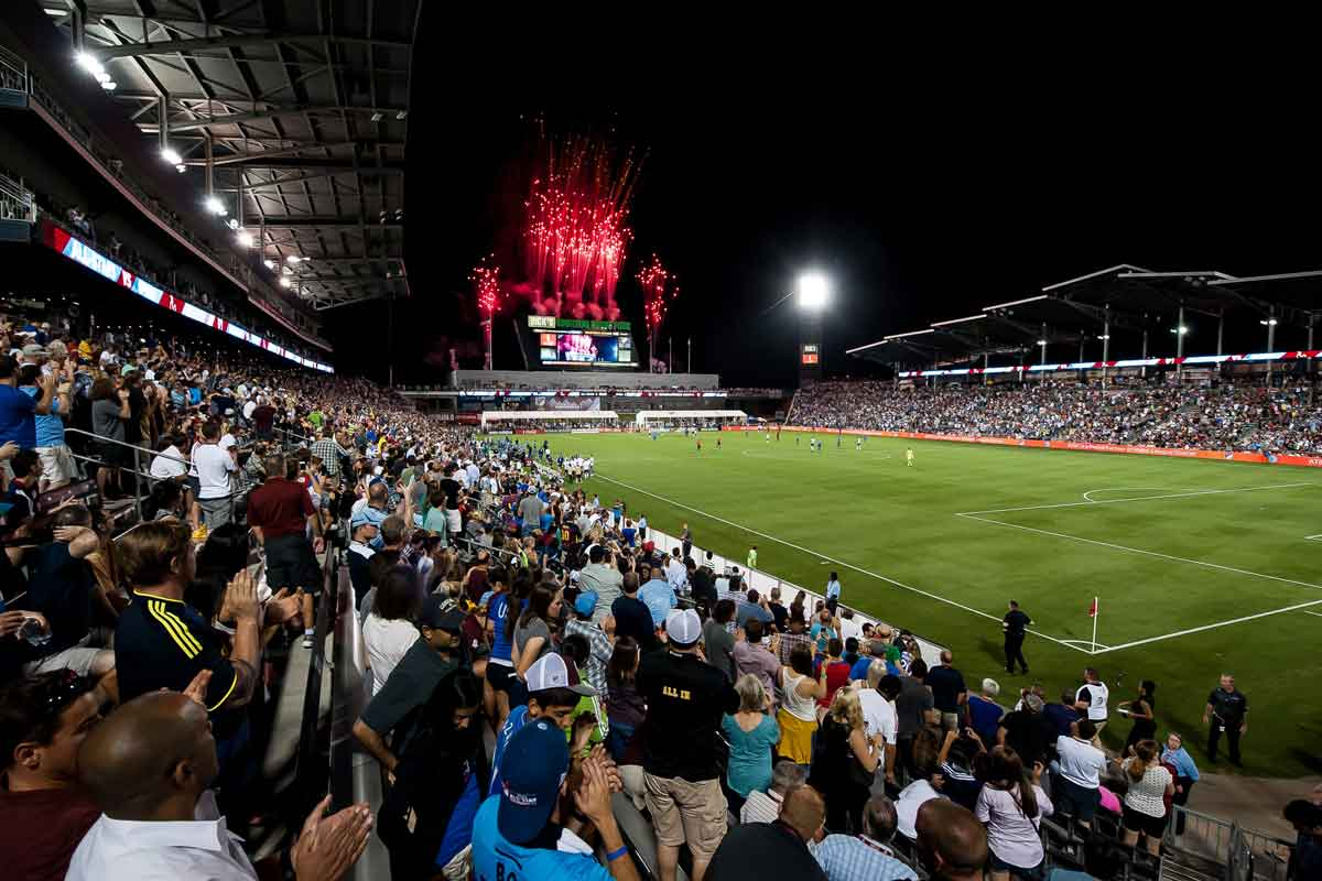 estadio colorado Rapids con los fans