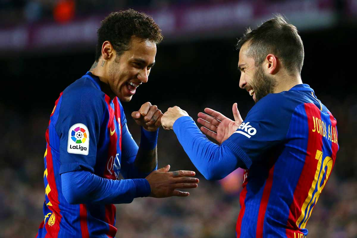 Jordi Alba y Neymar