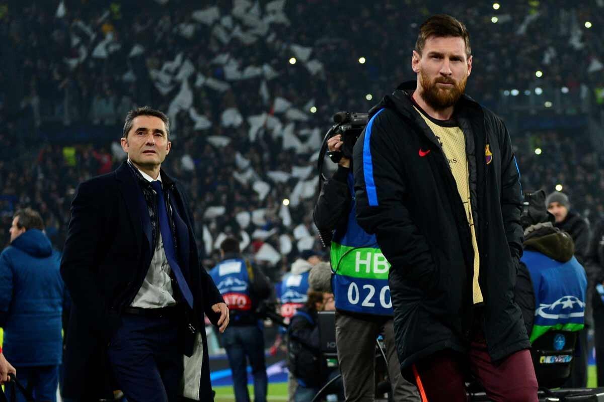 Valverde y Messi