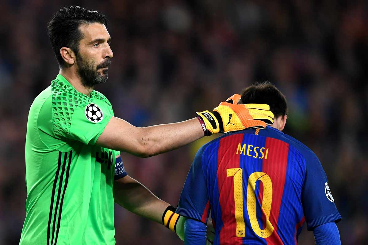 Buffon y Messi