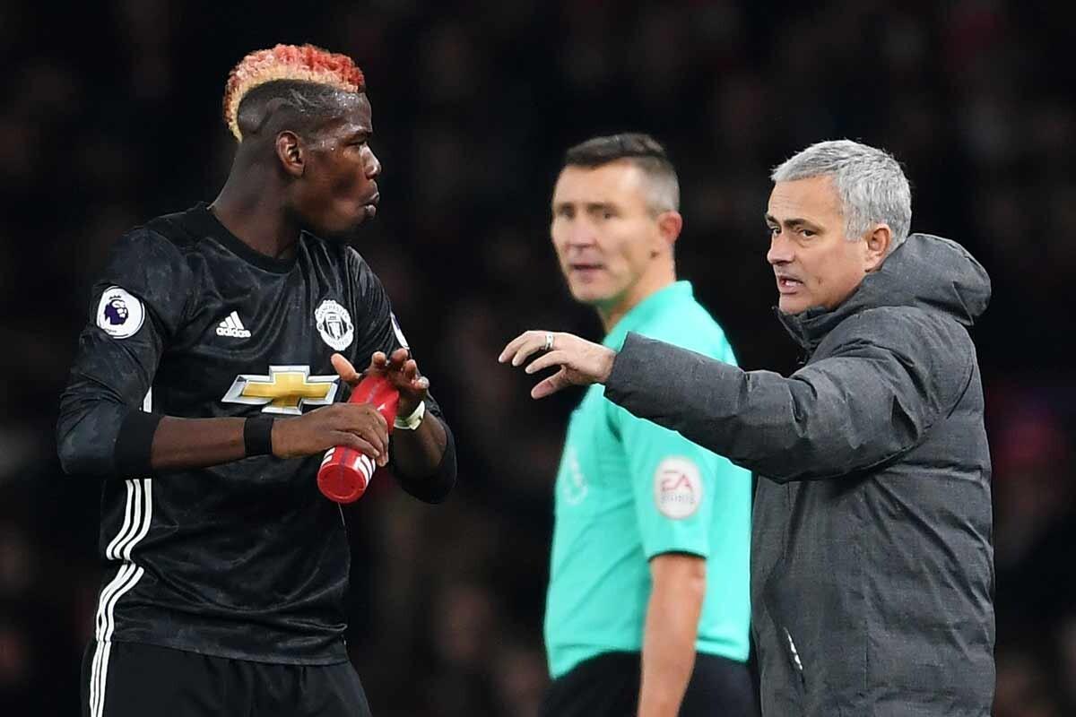 Pogba y Mourinho