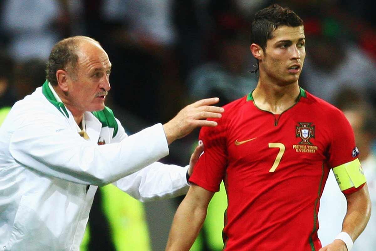 Scolari y Cristiano Ronaldo