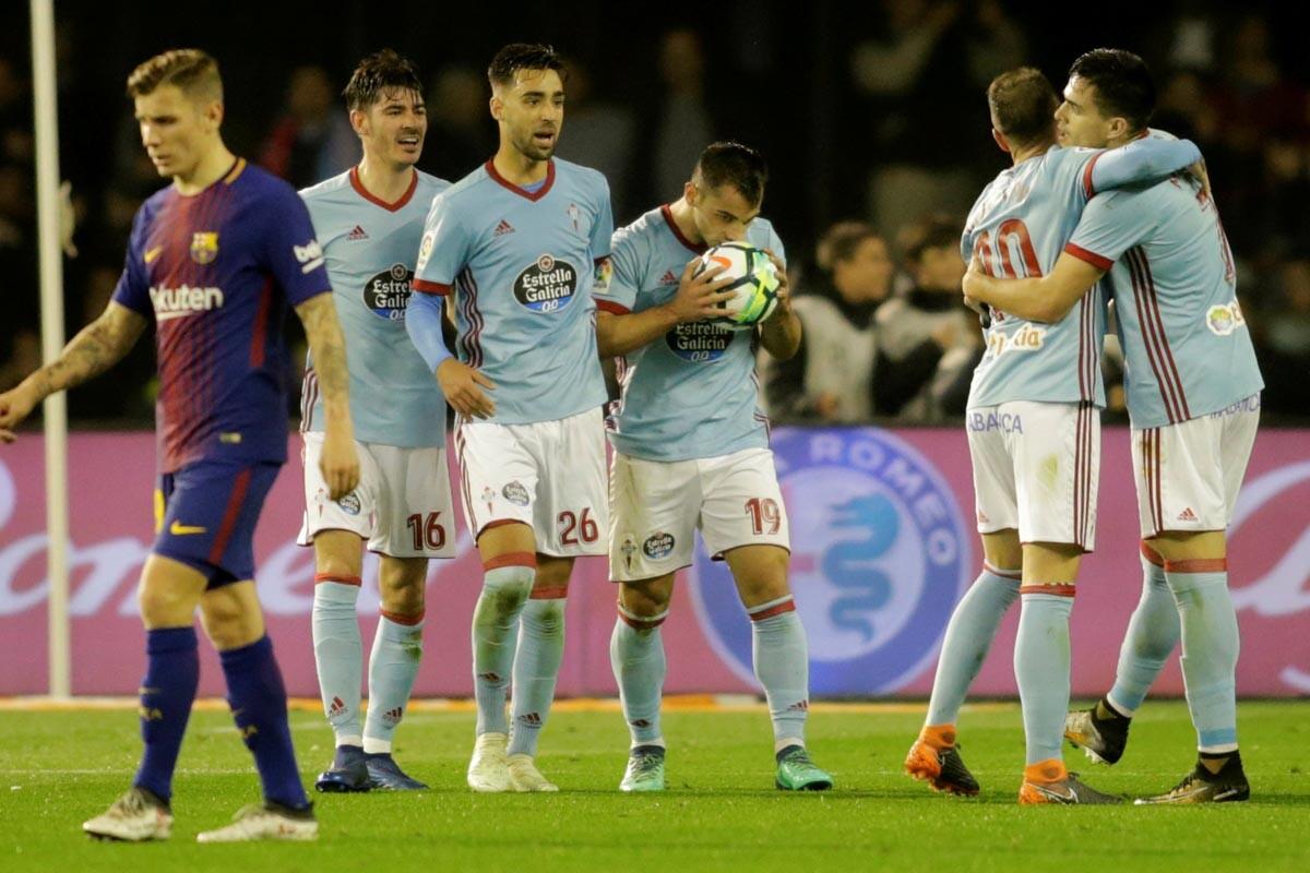 El empate entre Celta y Barcelona, en imágenes