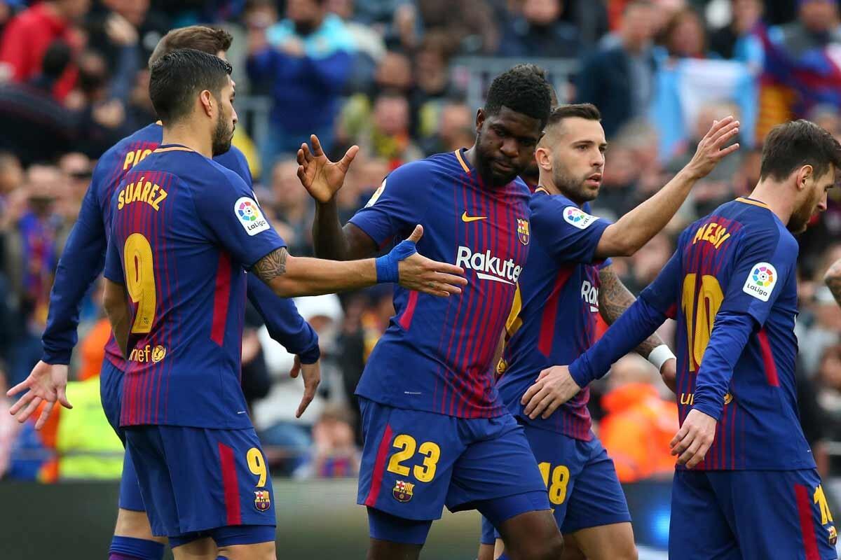 La victoria del Barça ante el Valencia, en imágenes