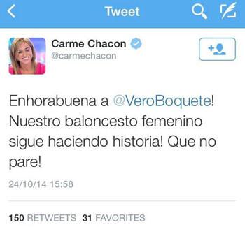 El desliz de Carme Chacón con Vero Boquete